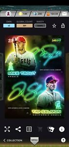 Topps BUNT Digital 2021 Neon Mike Trout Tim Salmon Iconic card