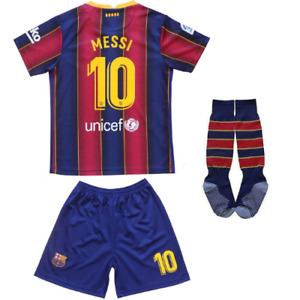 2020 21 FC Barca Lionel Messi 10 Home Jersey Kids Soccer Youth