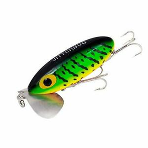 Jitterbug Topwater Bass G675 jointed Clicker 3 1 2 in 5 8 oz Fire Tiger