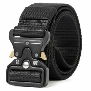 MEN Casual Military Tactical Army Adjustable Quick Release Belts NEW $9.39