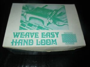 Vintage WEAVE EASY Hand WEAVING LOOM and INSTRUCTION PROJECT BOOKLET 1970#x27;s $14.99
