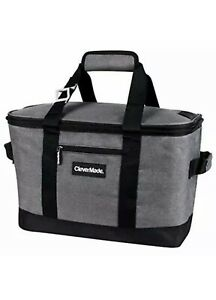 CleverMade Collapsible Cooler Bag Insulated Leakproof 50 Can Soft Sided Portable