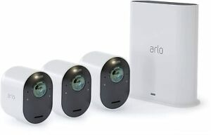 Arlo VMS5340 100NAR Ultra 4K UHD Wire Free 3 Camera System Certified Refurbished $473.02