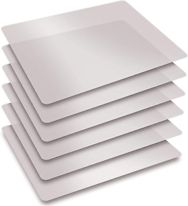 Extra Thick Flexible Frosted Clear Plastic Cutting Mats Set Of 6 By Better Kit