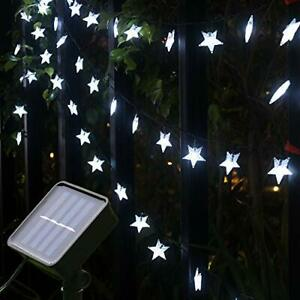 Xingpold 23FT 50LED Solar Star String Lights 8 Modes Solar Powered Twinkle Fa... $24.54