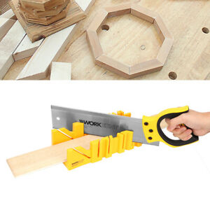 12 Inch Angle Mitre Box Clamping ABS Plastic Lightweight Woodworking Tool $23.03