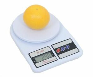 Electronic Digital Kitchen Scale LCD Parcel Weighing Food Jewellery 10kg White $6.99