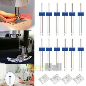 Twin Needle Double Needle Stretch Needles Stainless Steel Sewing Machine 12 Pack $9.99
