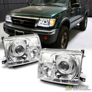 For 97 00 Toyota Tacoma 2WD 98 00 4WD LED Halo Projector Headlights LeftRight $149.99