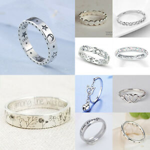 Fashion 925 Silver Rings for Women Jewelry Wedding Engagement Ring Gift Sz 6 10 C $2.30