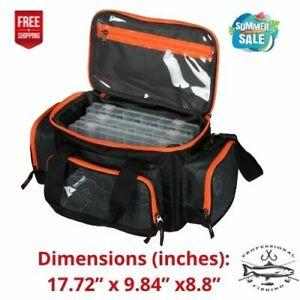 Ozark Trail 360 Fishing Tackle Bag with Tackle BoxesBlack Product Weight:2.9lb