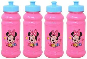 4 Pack Disney Minnie Mouse 16oz Pull Top Squirt Water Bottles BPA free