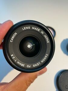 Canon Lens FD 28mm 1:2.8 f2.8 Wide Angle Japan SLR Film Camera w caps TESTED