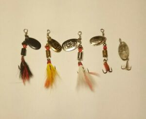 Vintage Lures South Bend Rooster Tails Martin amp; Swimmer 5 Pcs