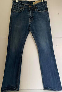 Hollister Authentic Denim Boomer Low Rise Slim Boot Mens Jeans Blue size 30x32 $30.00
