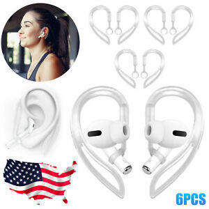 3 Pairs Silicone Ear Hook For Air Pods Pro Anti Slip Cover Holder Accessories US $8.98
