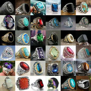 Gorgeous 925 Silver Rings Men Women Creative Wedding Party Jewelry Gift Size6 13 C $2.93