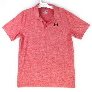 Boys Under Armour Golf Polo Shirt Loose Heatgear Youth Size YXL Red The Playoff $12.95