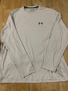 Under Armour Cold Gear Fitted Long Sleeve White Shirt Size XL Loose Fitted $10.00