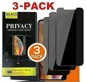 3 PK iPhone 13 12 11 Pro Max XR Privacy Anti Spy Tempered GLASS Screen Protector $8.99