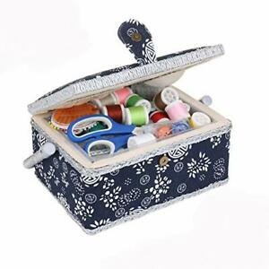 Large Sewing Box with Accessories Sewing Storage and Organizer with Complete ... $46.72