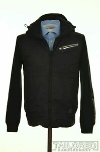 PAUL SHARK Solid Blue WOOL Thermore EVODOWN Mens Jacket Coat SMALL $182.16