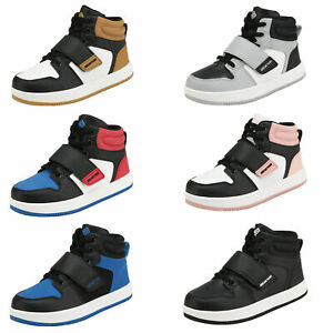 Kids Boys Girls Fashion Sneakers High Top Basketball Shoes Athletic Shoes $23.74