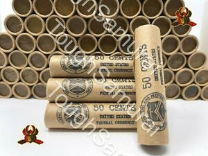 Vintage Stamped Lincoln Wheat Penny Roll 50 Cent Lot of PDS 1909 1958 US Coins