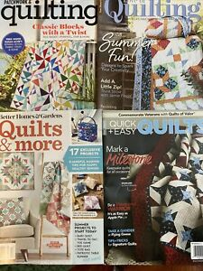 Lot of 4 Quilting Magazines Fons amp; Porter Better Homes $3.99