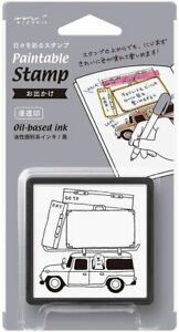 Carry Car Travel Pattern Paintable Stamp Diary Decoration Penetration Stamp $24.90