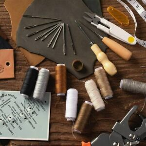 ✅29 Pack Leather Sewing Kit Upholstery Repair Kit Embroidery Hand Sewing Stitch $10.24