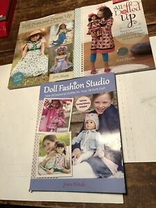 Joan Hinds book lot sewing for 18 inch dolls dolled up costume fashion studio $19.99