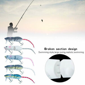 Artificial Fishing Jointed Lure Mouse Lure Swimbait Rat Fishing Hook Crankbaits