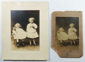 Antique Photographs Children Holding Roses Sol Young New York $3.00