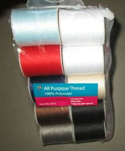 ALLARY All Purpose Polyester Thread 10 Count Assorted Colors $8.50