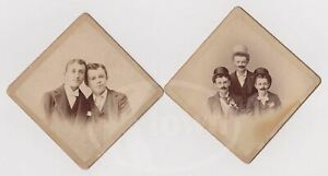 HANDSOME YOUNG MEN TOP HATS amp; FAKE MUSTACHES CUTE FRIENDS ANTIQUE PHOTOS