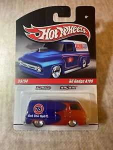 Hot Wheels Slick Rides GULF #x27;66 Dodge A100 Blue Red REAL RIDERS
