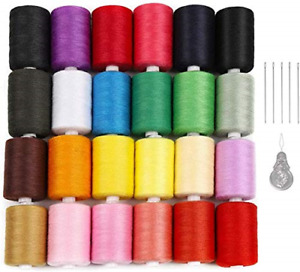 24 Colors Sewing Threads for Sewing Machine1000 Yards Spools Thread Mixed for $38.60