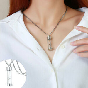Ashes Pendant Silver Stainless Steel Hourglass Necklace for Memorial Women. $8.90