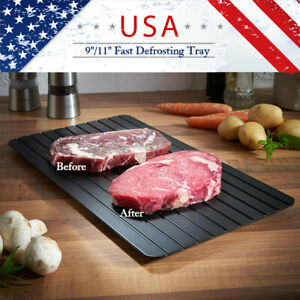 Defrosting Tray Fast Rapid Thawing Safe Defrost Meat Thaw Frozen Food Kitchen US