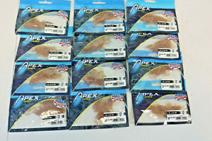 12 packs Apex Tackle 1quot; Curly Tail Grub DIRT 144 Soft Creature Lures