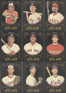 2021 Topps Allen Ginter X Black Baseball Complete Your Set Pick a Card $1.09
