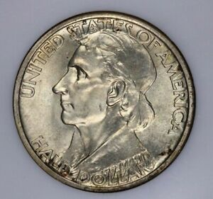 1935 Boone Commemorative Silver Half Dollar 50c NGC MS 65 Old no line holder