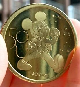 NEW Walt Disney World 50th Anniversary Commemorative Gold Coin Mickey Mouse $19.99