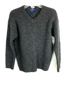 J. Crew Womens Sweater Size PS Petite Small Gray Long Sleeve 100% Wool Casual $18.99