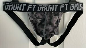 FORT TROFF SPORT JOCK GREY CAMO POUCH LARGE 32quot; 34quot; BLACK STRAPS AND WAISTBAND