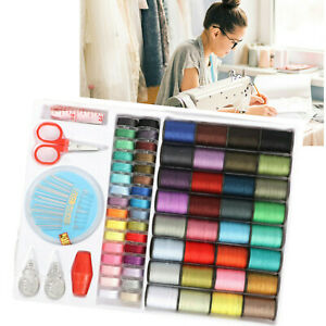 Set of 100PCS Colorful Polyester Sewing Thread Spools with Bobbin Needle Tapes $8.96