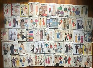 Lot of Vintage Sewing Patterns 50 Simplicity McCalls Vogue Butterick 80#x27;s 90s $19.99