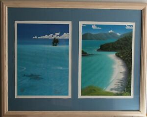 Dan Mackin Framed 12X16 Dancing on the Beach and Fancy Jumper signed Lithographs $200.00