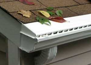 Vinyl Solid Gutter Cover Leaf Guard 100 ft $149.00